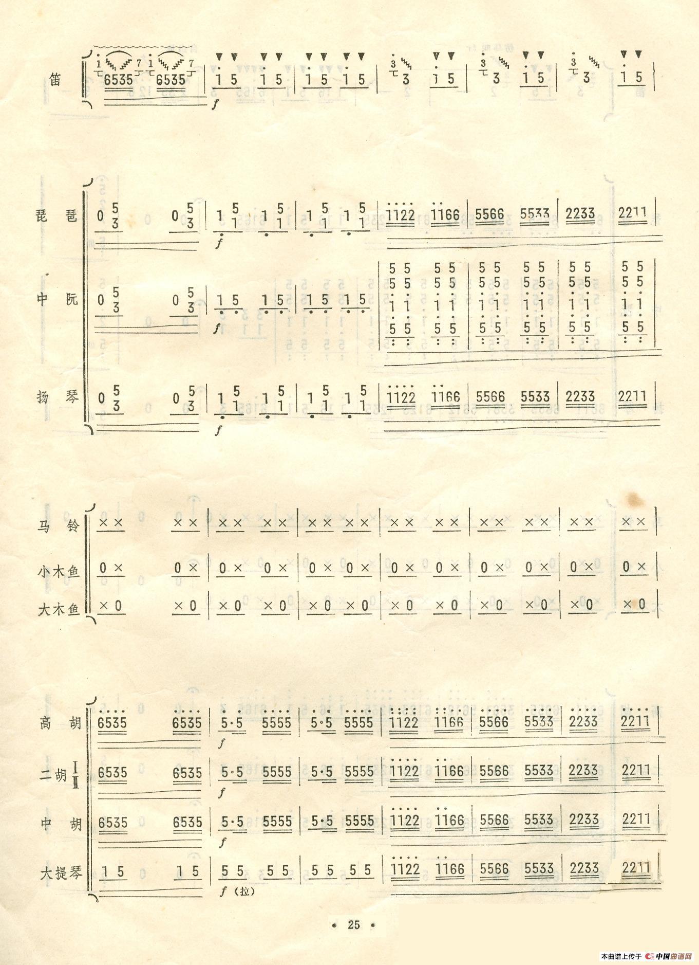 曲谱:扬鞭催马运粮忙(总谱)21-26)