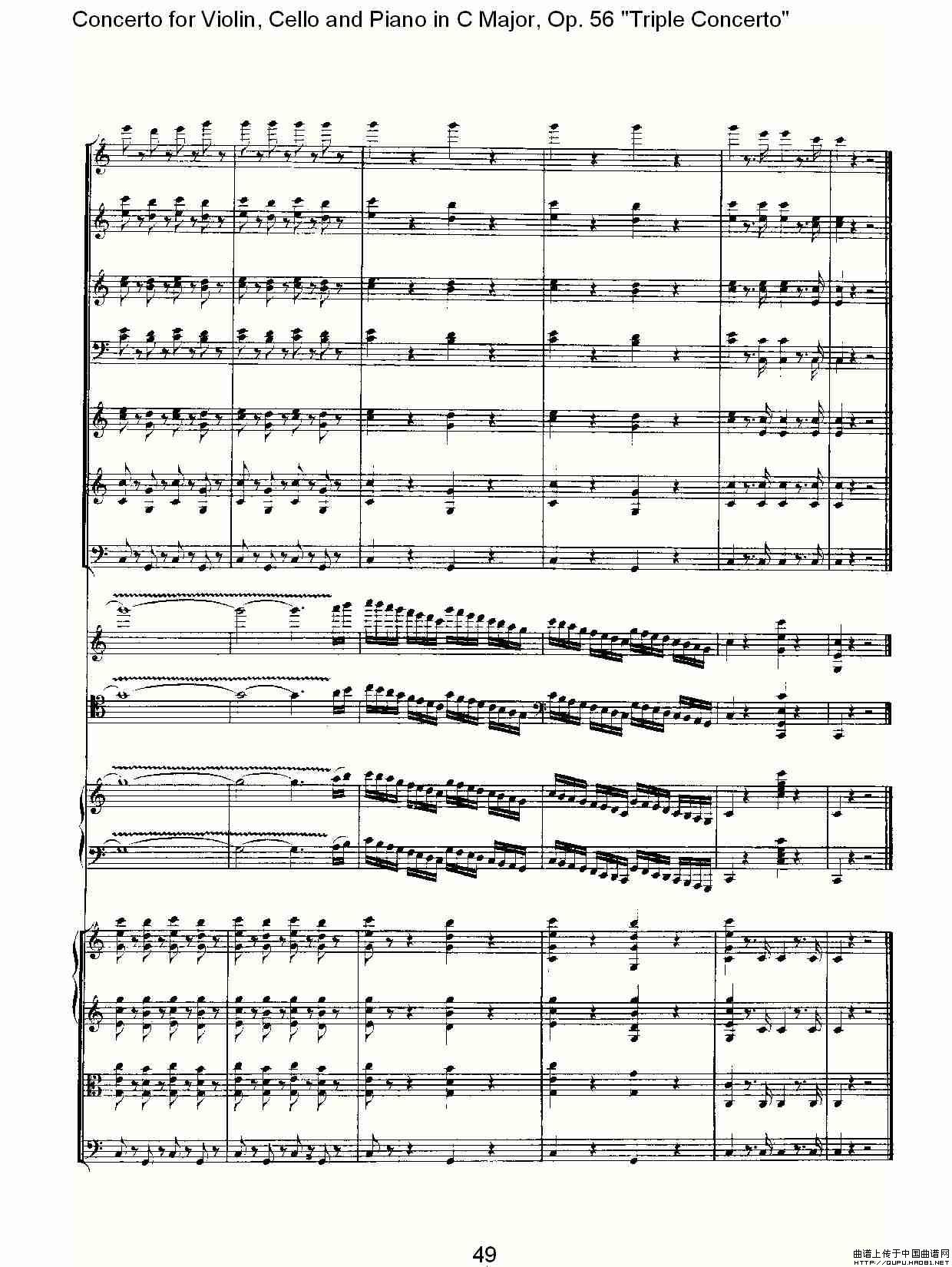 c调歌谱网简谱-曲谱 C大调大提琴与钢琴协奏曲Op.56第一 二