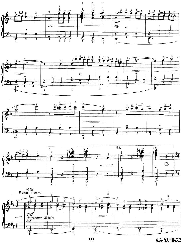 橄榄花 简谱 五线谱 手风琴谱 器乐乐谱