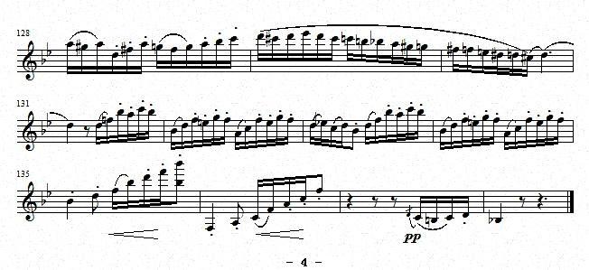 曲谱 练习曲 之26 单簧管谱
