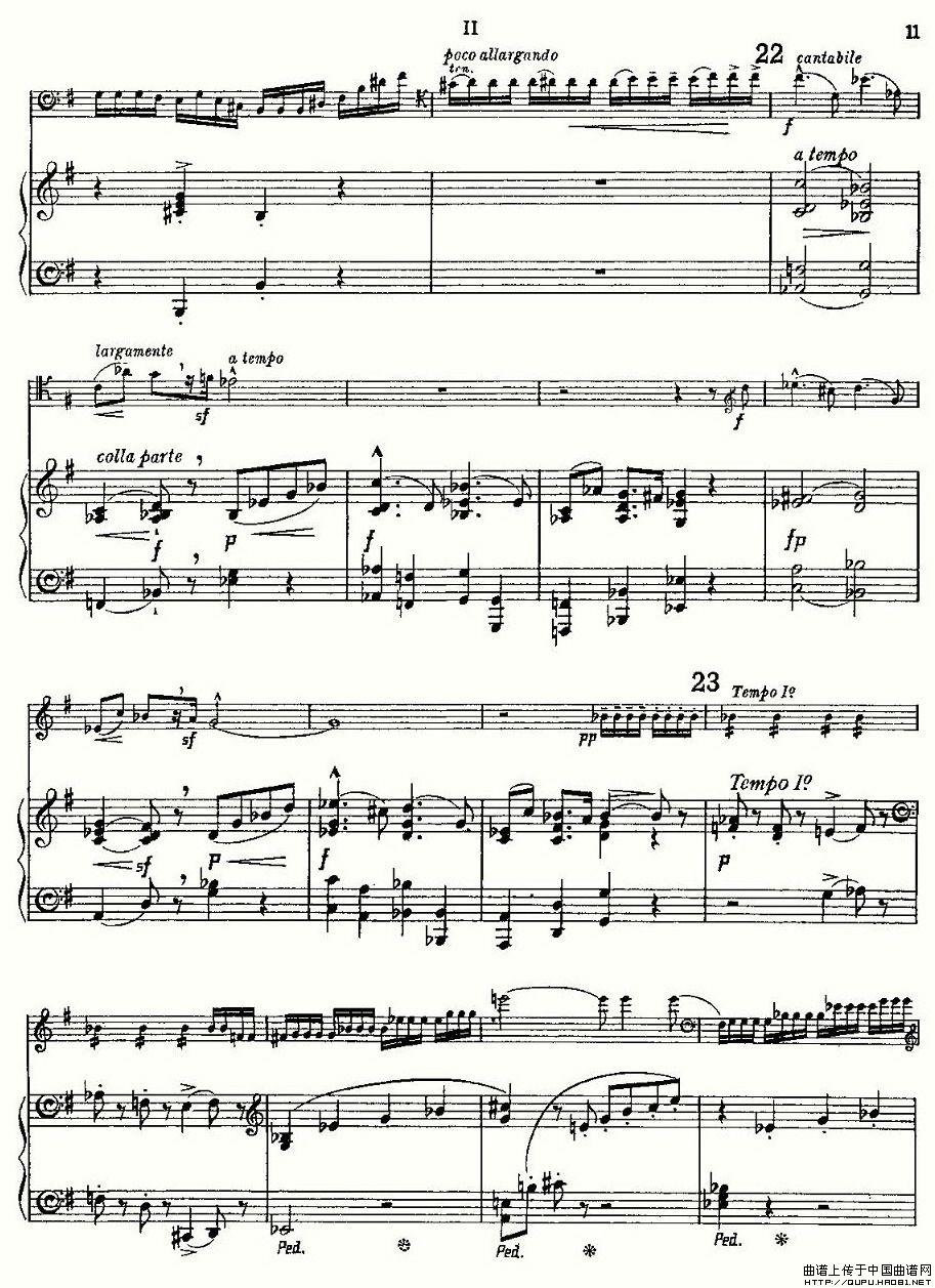 曲谱 E小调大提琴协奏曲 -E小调大提琴协奏曲