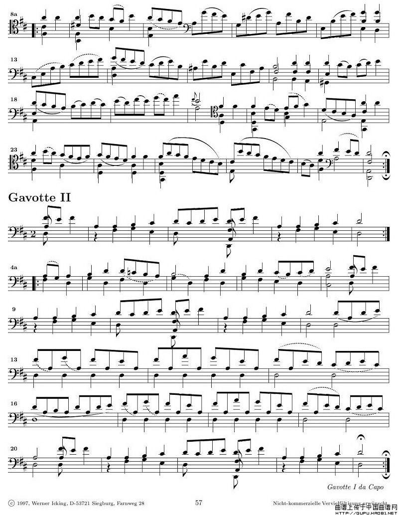 巴赫无伴奏大提琴练习曲之六