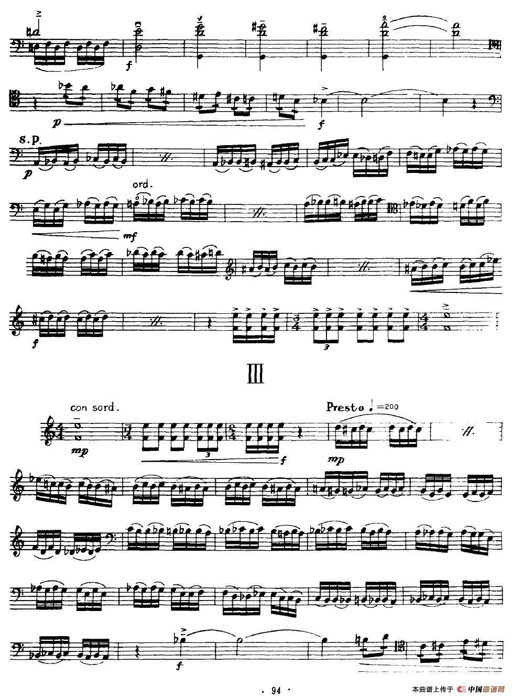 大提琴无伴奏组曲提琴谱_器乐乐谱_中国曲谱网