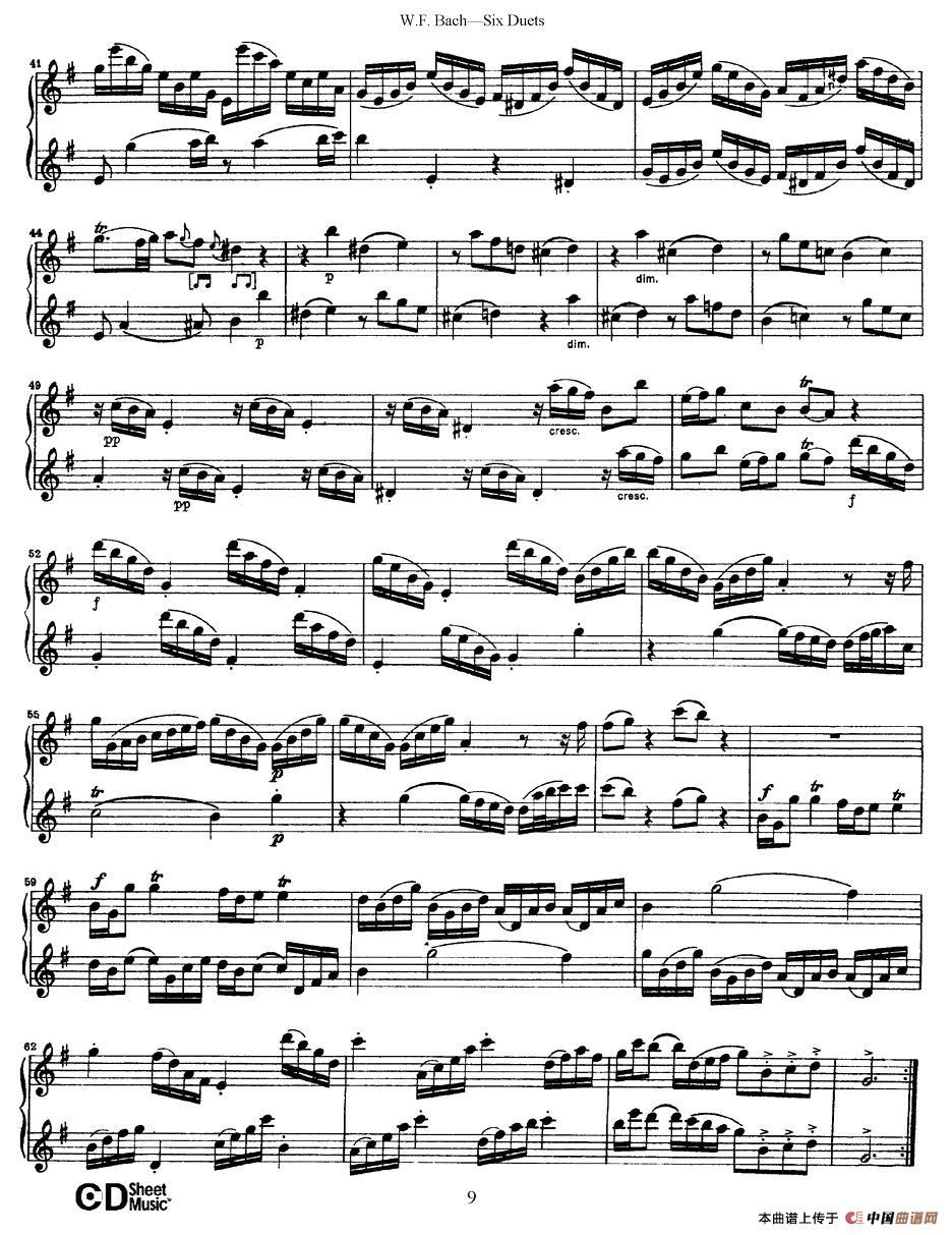 uets 6首二重奏 萨克斯谱 2 器乐乐谱 中国曲谱网图片