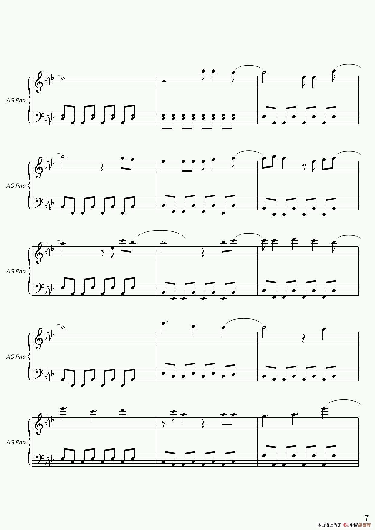 冰雪奇缘钢琴谱 器乐乐谱 中国曲谱网