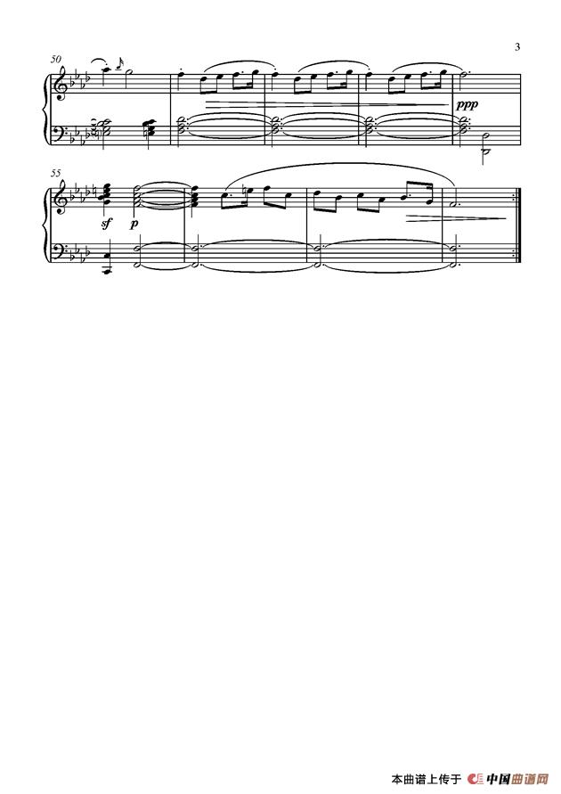 笛子f调的曲子谱子