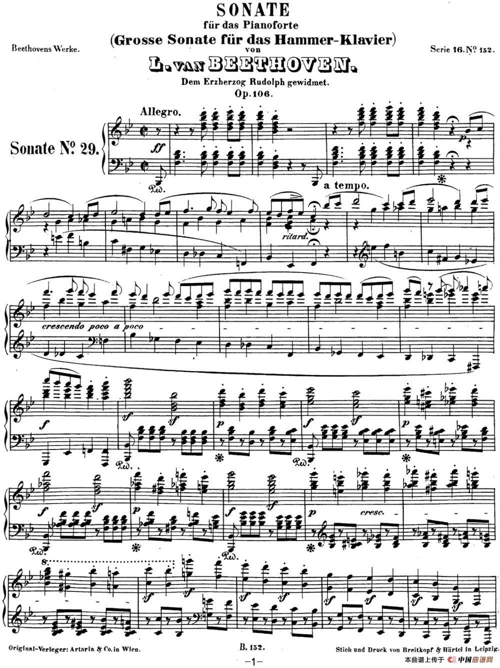 贝多芬钢琴奏鸣曲29 钢琴(锥子键琴)降B大调 Op.106 B-flat major(1)_原文件名:29 钢琴(锥子键琴)降B大调 Op106 B-flat major_页面_03.jpg
