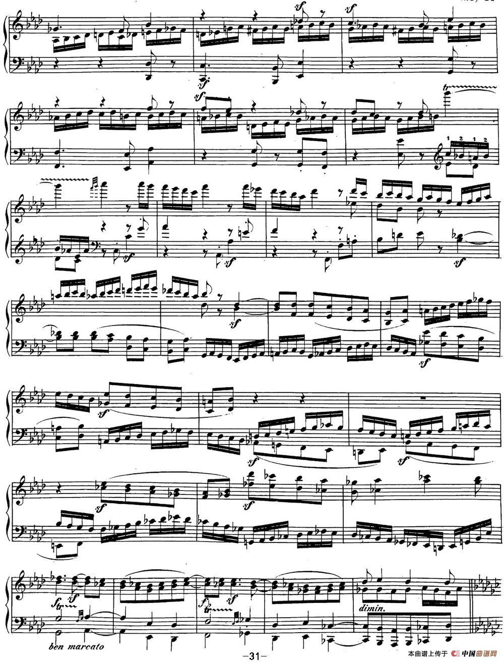 贝多芬钢琴奏鸣曲29 钢琴(锥子键琴)降B大调 Op.106 B-flat major(1)_原文件名:29 钢琴(锥子键琴)降B大调 Op106 B-flat major_页面_33.jpg