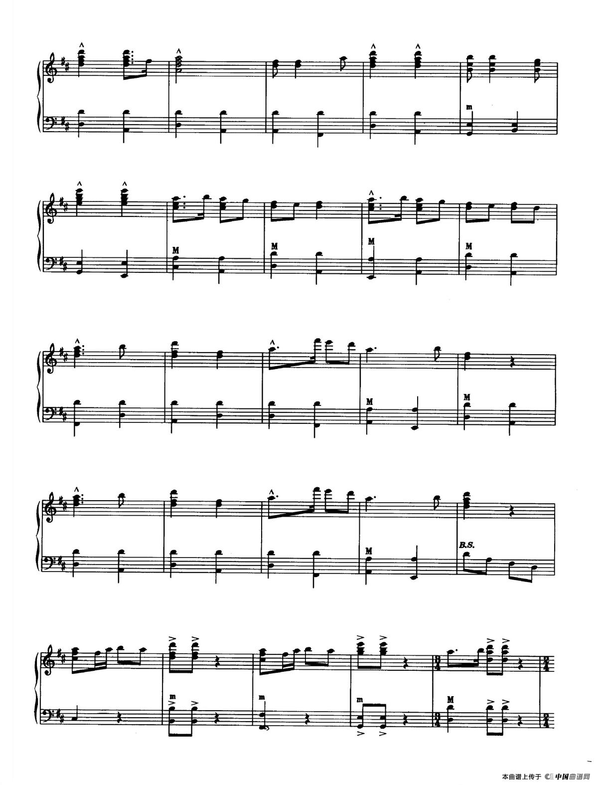 保卫黄河钢琴谱(曹子平编曲版)_器乐乐谱_中国曲谱网