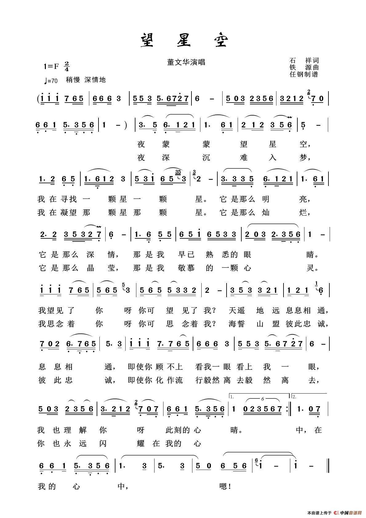 军旅歌曲100首:望星空图片