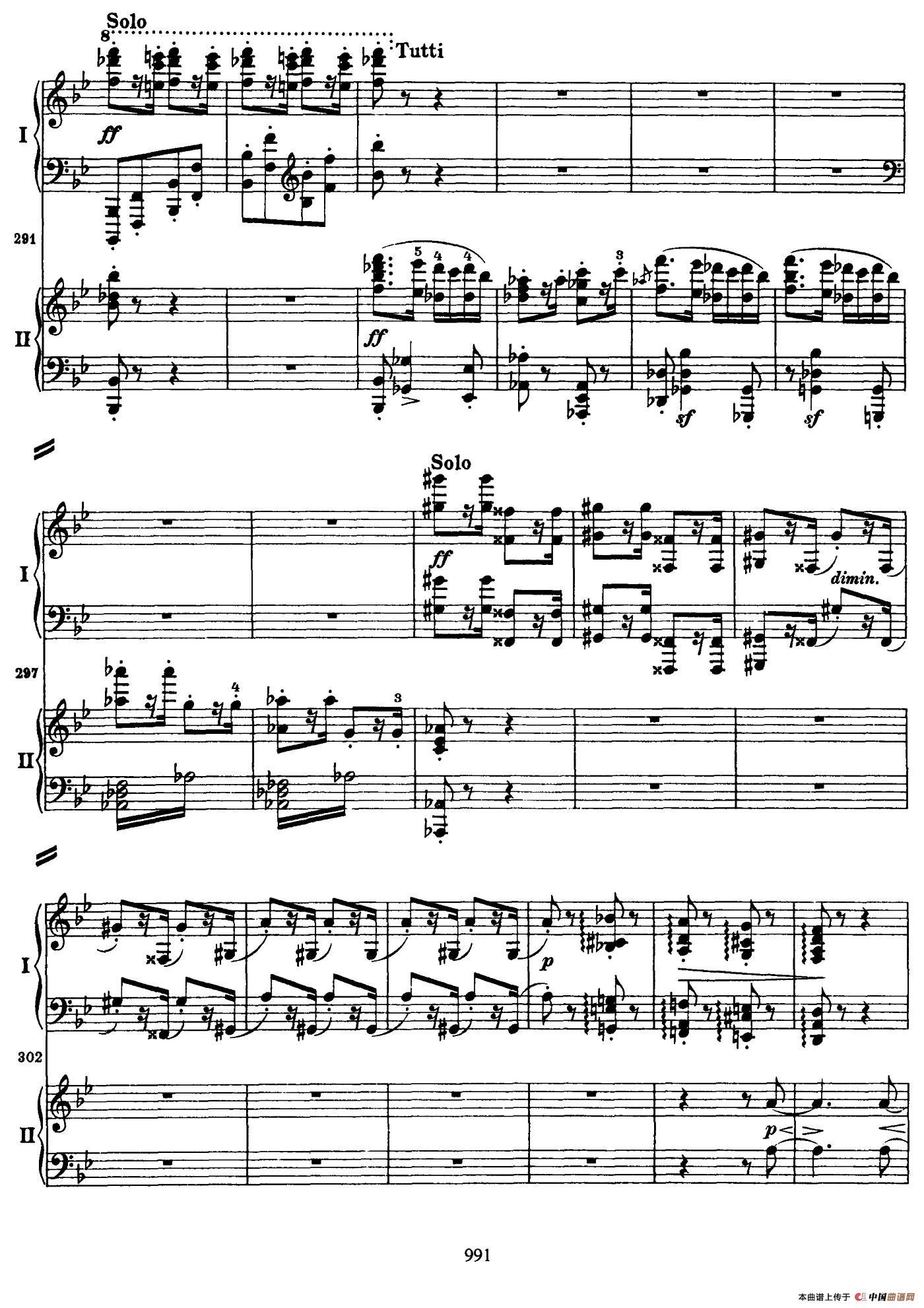 降B大调第二钢琴协奏曲(P91――104)(1)_原文件名:093.jpg