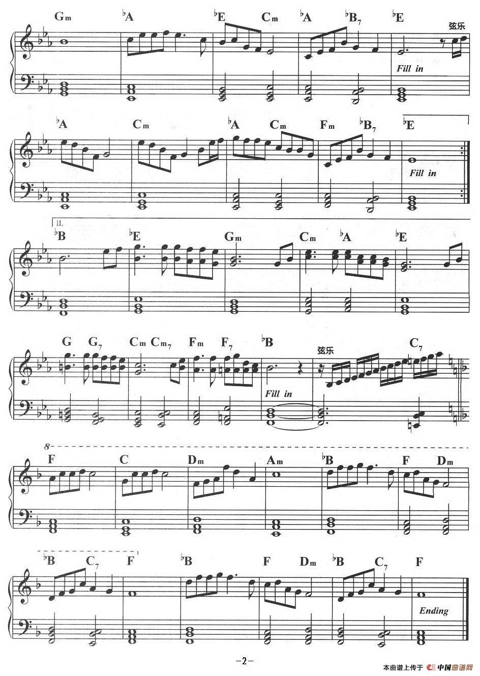 女人花电子琴谱_器乐乐谱_中国曲谱网