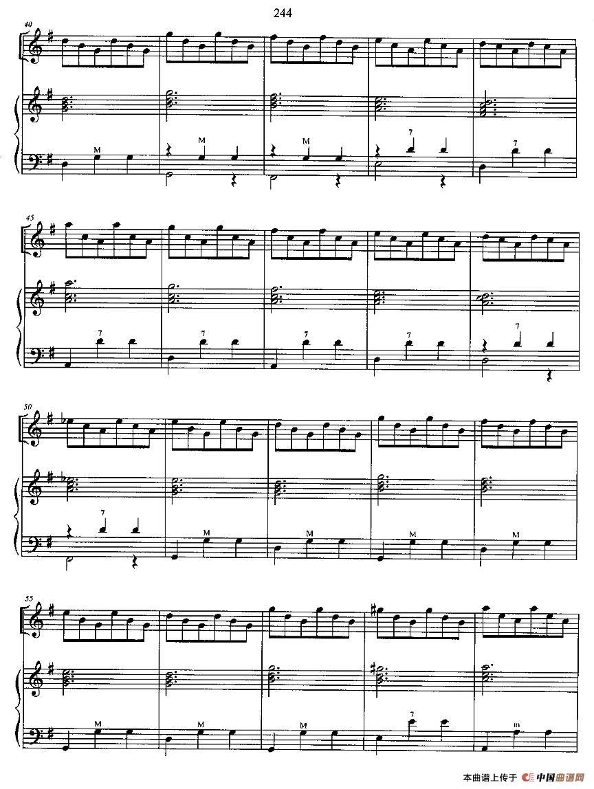 光和影手风琴谱 二重奏 器乐乐谱 中国曲谱网